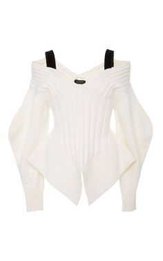 Burberry Off The Shoulder Corset Sweater
