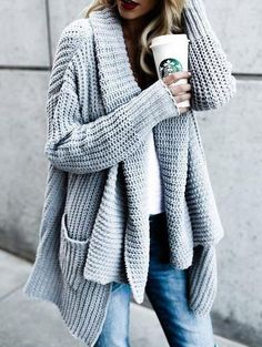 Chicnico Stylish Loose Knit Cardigan