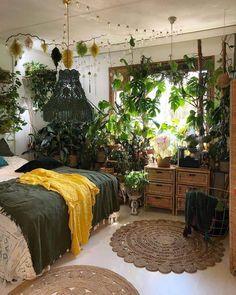 Room Ideas Bedroom, Home Bedroom, Bedroom Decor, Bedrooms, Room With Plants, Indie Room, Pretty Room, Boho Room, Aesthetic Room Decor