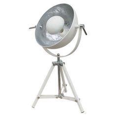 Liteworks Somerset Tripod Table Lamp White With Silver