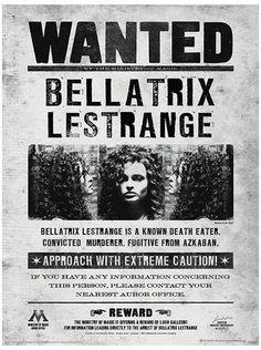 Harry Potter (Bellatrix Wanted) Movie Poster Reproduction image originale sur AllPosters.fr