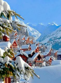 Official site : For your next mountain breakaway, discover Meribel, ski resort in the French Alps, in the 3 Valleys ski zone. The 5 star hotel Le Kaïla welcomes you for an unforgettable experience. Wonderful Places, Great Places, Places To See, Beautiful Places, Winter Szenen, Winter Time, Winter Coat, Winter Travel, Image Nature