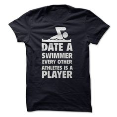 [Best stag t shirt names] Date a Swimmer Funny Shirt Teeshirt this month Hoodies, Funny Tee Shirts