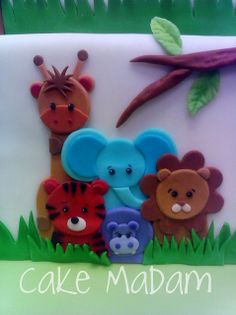 Jungle Animals this is a cake, but it could be punch art