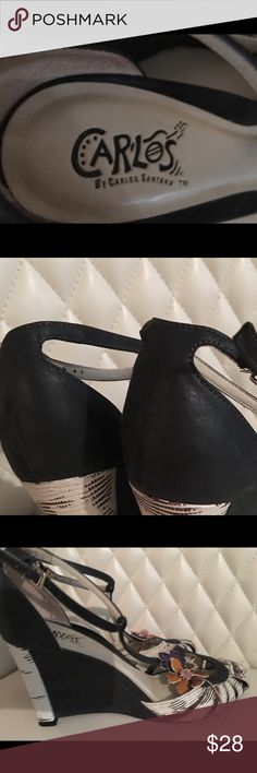 Carlos Santana shoes Beautiful Carlos Santana shoes in excellent condition. Size 7 Shoes Wedges