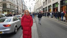 oxford street london shopping 2017 december  Quilted long coat- Woman- Mango
