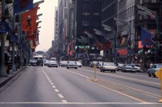This photo set includes 38 wonderful color slides that shows everyday life of Chicago in the Street Look, Street View, Chicago Street, Chicago Neighborhoods, State Street, Chicago Illinois, 1960s, City, Vintage