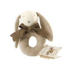 Super soft and sweet, the Maud N Lil Organic Rattle Ears in Grey is a delightful gift for any baby. Presented in a gift box and made from 100% Organic Cotton, this gorgeous bunny rattle makes a lovely edition to your little one's play time. Rattles are lovely gifts for bub, as they allow them to start exploring their different senses, such as touch and sound, while teaching them how to produce sound and basic motor skills. The Maud N Lil Organic Ears Rattle is also so snuggle and cute, it…