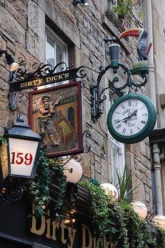 Dirty Dick's Pub on Rose Street ~ Edinburgh, Scotland