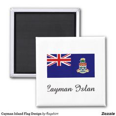 Cayman Island Flag Design 2 Inch Square Magnet