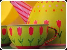 Cute Floral Tea Set
