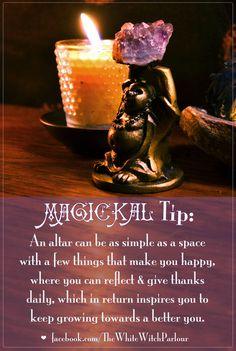 Altars: Magickal Tip ~ #Altars.