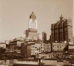 1939/1945. Edifício do banespa em construção. São Paulo do Passado