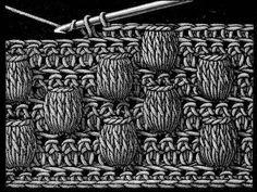вязание крючком узоры шишечки - Поиск в Google