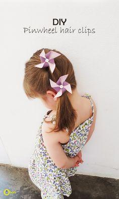 Ohoh Blog - diy and crafts: DIY pinwheel hair clips