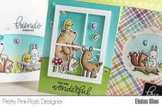 Pretty Pink Posh: One Stamp Set // Three Animal Cards + Video