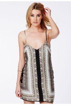 Lucrecia Silky Feel Oversized Cami Dress In Paisley Print