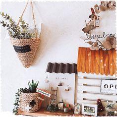 On Walls/ダイソー/セリア/フェイクグリーン/麻紐/編み編み...などのインテリア実例 - 2017-07-12 23:54:06 Plant Covers, Crochet Home Decor, Crochet Patterns, Basket, Crafty, Inspiration, Crocheting Patterns, Hampers, Plants