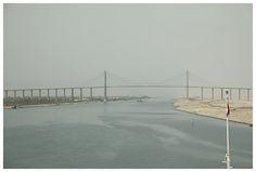 Freedom Bridge near Al Qantara.  no traffic crosses the bridge: ferries are used instead for security reasons.