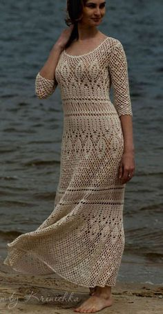 Boho Crochet Maxi dress @roressclothes closet ideas #women fashion outfit #clothing style apparel