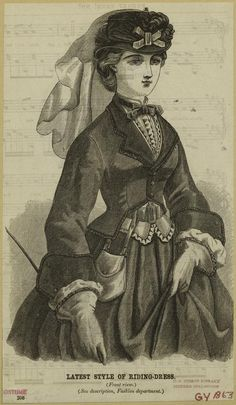 Godey's Riding dress 1863
