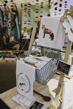 Good use of a basket as part of a craft fair display