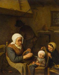 Adriaen van Ostade - Een boeren familie