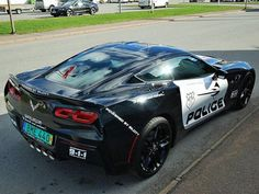 This Corvette Stingray Cop Car is For Sale (in Sweden)