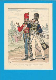 France - Planche de JOB - 1812 1814.HUSSARDS. 9ème et 11ème Régiment.