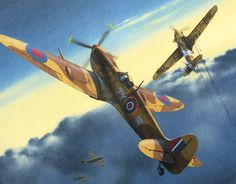 Ww2 Aircraft, Fighter Aircraft, Fighter Jets, Supermarine Spitfire, Indochine, Aviation Art, Military Art, Vietnam War, World War Two