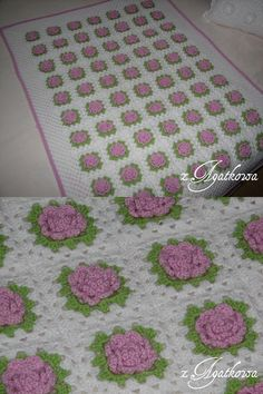 Pink Granny Rose Blanket