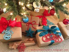 Gift Wrapping Ideas - Brown Paper Packages Tied up with String