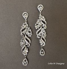 Bridal+chandelier+earrings+wedding+jewelry+by+Lolambridal+on+Etsy,+$78.00