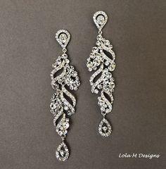 Bridal chandelier earrings, wedding jewelry, rhinestone chandelier earrings, bridal jewelry, crystal earrings, wedding earrings