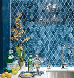 Wet Bar - amazing tiles