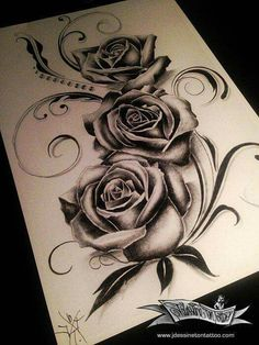 Rosen - Rosen - tattoo tattoo ideas for women for women ideas girl body girl design girl drawing girl face girl models ideas for moms for women Dope Tattoos, Badass Tattoos, Pretty Tattoos, Leg Tattoos, Beautiful Tattoos, Body Art Tattoos, Sleeve Tattoos, Tatoos, Skull Rose Tattoos