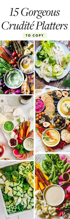 16 Drop-Dead Gorgeous Crudités Platters #purewow #entertaining #recipe #food #party #cooking #crudite #partyfood #crudite #beautifulfood #appetizers