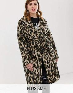 a94bdb6a247e River Island Plus Size wrap coat in leopard Wrap Coat, Plus Size Coats,  River