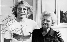 John Denver is pictured with Mary Saul in June 1978 in Andover, Kansas.  Saul was hired as a secret housekeeper and cook for John while he attended ground school class for jet aircraft in Wichita, Kansas during the summer of 1978  Photo/Courtesy Norma Doll
