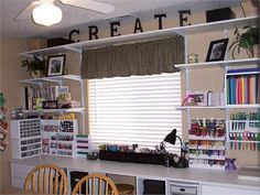 Craft Room Inspirations via Rate My Space (8 pics) #scrapbooking #organization