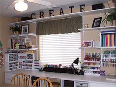 Craft Room Inspirations via Rate My Space (8 pics) #scrapbooking #organization