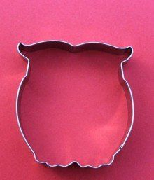 Fancy - Owl Stainless Steel Cookie Cutter http://fancy.com/things/388607909707121683/Owl-Stainless-Steel-Cookie-Cutter