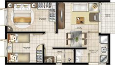 Projeto de casa pequena e simples