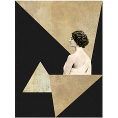 Mirage Art Deco, Mixed Media Collage Art, Vintage Photo Woman,... (215 MAD) ❤ liked on Polyvore featuring home, home decor, wall art, mixed media wall art, photo wall art and textured wall art