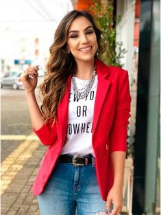 Blazer Outfits Casual, Business Casual Outfits, Classy Outfits, Chic Outfits, Trendy Outfits, Fall Outfits, Fashion Outfits, Mode Ab 50, Look Blazer