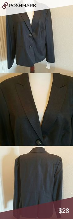 Jones New York Charcoal  Blazer Beautiful blazer with compliments any outfit. Charcoal color two-button front with 3 buttons on sleeve. It's new without original tags. Jones New York Jackets & Coats Blazers