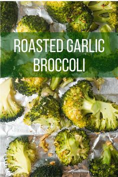 Roasted Garlic Broccoli -, healthy and easy to make, this broccoli will be the perfect side for any dinner! Slender Kitchen