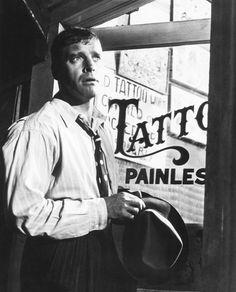 "Burt Lancaster en ""La Rosa Tatuada"" (The Rose Tattoo), 1955"
