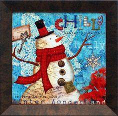 Snowman Framed Graphic Art