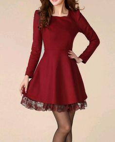 870ae543fa5 2014 new winter women s dream bridge Korean yards temperament Slim thin  long-sleeved woolen winter dresses - SGshop